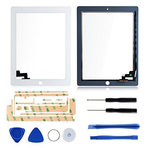 Ersatz Digitizer Touchscreen Frontscheibe Anzeige für Apple iPad 2 + freie Werkzeuge (Weiß)
