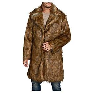 SIRIGOGO Winter Herren Wärme Mantel Dicken Mantel Jacke Kunstpelz Outwear