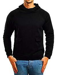 BUSIM Men's Long Sleeve Sweater Autumn Solid Color Slim Hoodie Pullover Sweatshirt Jacket Jacket Trends Comfortable...