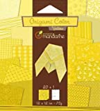 Avenue Mandarine 42680O - Origamipap 12 x 12 cm, 20 Bl, 70 g, gelb