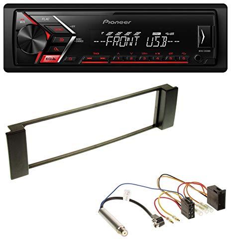 Pioneer MVH-S100UB USB AUX MP3 1DIN Autoradio für Audi A3 (8L 00-03) A6 (C5 01-05) (Car Audio Lautsprecher 8 Pioneer)