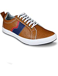 Beonza Men Rubber TPR Sole Premium Tan Sneakers Casual Shoes
