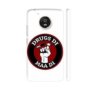 Colorpur Moto G5 Cover - Drugs Di Maa Di Printed Back Case
