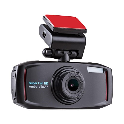 oneConcept Carguard GPS Auto-Unfall Kamera Car Recorder Video Dashcam Camcorder BlackBox Überwachungskamera (Super Full HD-Auflösung, Slow Motion Videos, 170° Weitwinkel-Optik, 6,5 cm (2,5