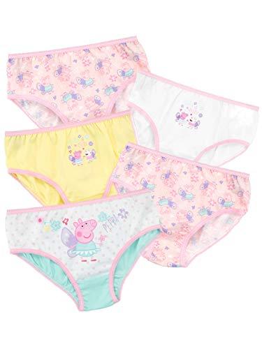 Peppa Wutz Mädchen Unterwäsche Packung mit 5 Mehrfarbig 110