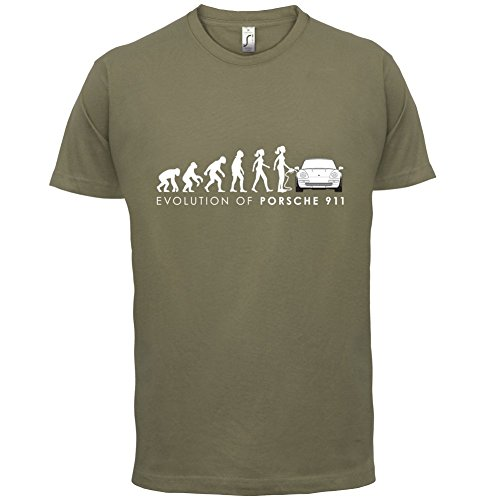 Evolution of Woman - 911 Fahrer - Herren T-Shirt - 13 Farben Khaki