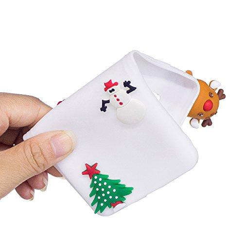 Cover Galaxy S8 Plus (6.2 Pollici) Spiritsun Silicone Moda Ultraslim Soft TPU Case 3D Diy Handy Kawaii Christmas Cover Souple Flessibile Phone Case Per Samsung Galaxy S8 Plus - Santa Clause 4 Santa Clause 4