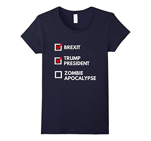 Not My President Zombie Apocalypse T-Shirt Damen, Größe XL (Shirts T Apocalypse Zombie)