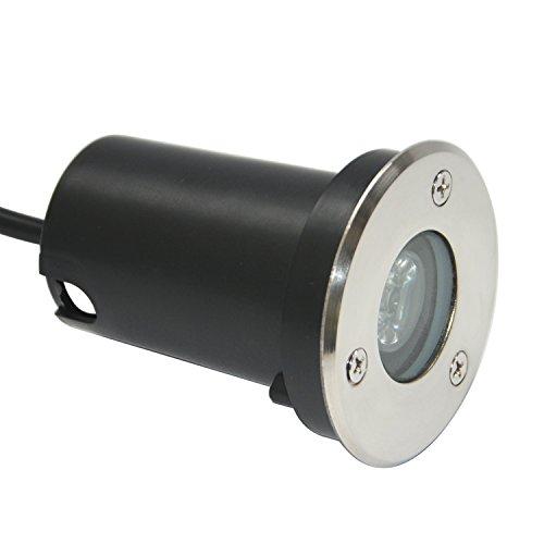 RSN LED 1W Blanco frío Luz LED Foco empotrable al Aire Libre...