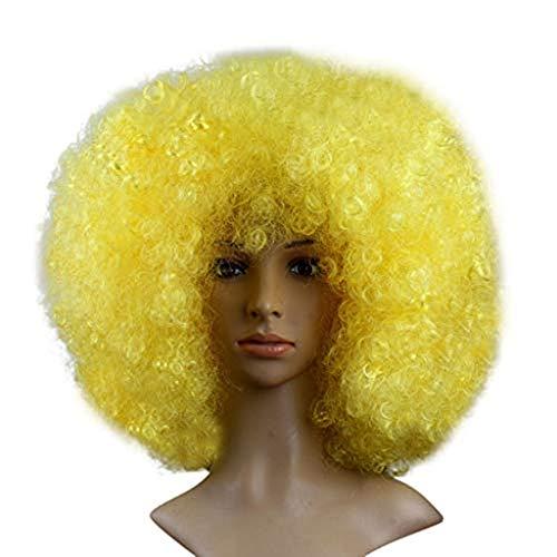 Big Bang Kopf Perücke flauschig lustige Afro Clown Haar Fußball Fan-Adult Afro Maskerade Haar Perücke ()