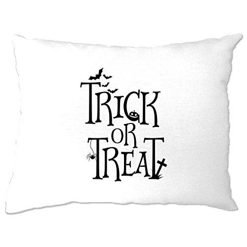 Kostüme Teufel Halloween Uk (Trick or Treat Gedruckt Slogan Zitat Design Premium-Qualität)