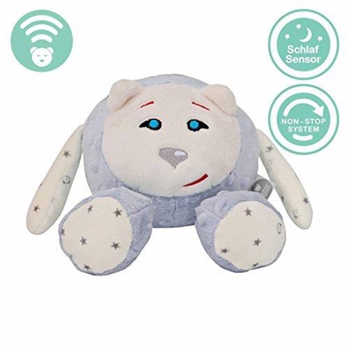 MyHummy schlafendes Maskottchen mit Schlafsensor (grau)