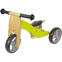 Unbranded Triciclo Madera Verde, unisex, Dreirad, verde
