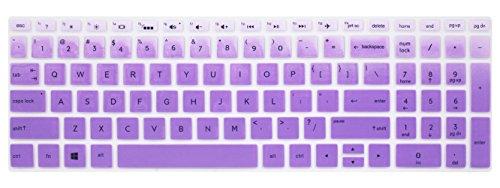 Silikon Tastatur Haut Cover für 39,6cm HP Pavilion x36015-br075nr, HP Envy X36015m-bp 15m-bq, HP Spectre X36015-ch011dx, HP Pavilion 15-cb 15-cc 15-cd 15-bw 15-bs Serie & 43,9cm HP Purple Ombre (Skins Für Hp Pavilion X360)