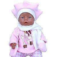 Handarbeit Puppenkleidung 43 cm passend für zb Baby Born Bekleidung Kleidung 28