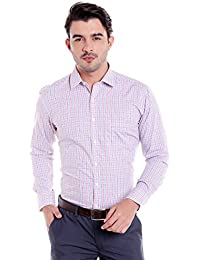 Donear NXG Mens Formal Shirt_SHIRT-1287-BLUE-RED