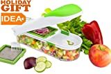 Brieftons QuickPush Food Chopper: Onion Chopper, Vegetable Slicer Dicer, Fruit and Cheese Cutter, with 3 Bonus Recipe Ebooks