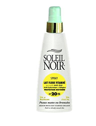 SOLEIL NOIR 8 Spray Lait Fluide Vitaminé 20 Protection Moyenne