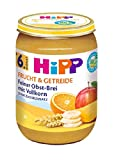 HiPP Frucht und Getreide, Feiner Obst-Brei mit Vollkorn, 1er Pack (1 x 190 g)