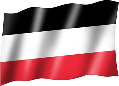 Flagge/Fahne DEUTSCHES REICH KAISERREICH schwarz weiß rot Staatsflagge/Landesflagge/Hissflagge mit Ösen 150x90 cm, sehr gute Qualität