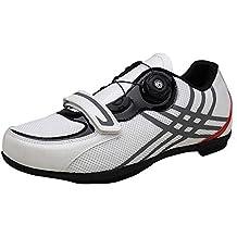 Zapatillas de ciclismo masculinas y femeninas, ocio carretera zapatos de suela dura transpirables Zapatillas de