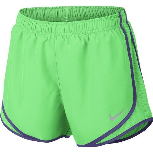 Nike W nk Dry Tempo Short, Damen M Grün (Elektro-grün / Wolfgrau) (Tempo Shorts Damen Grüne)