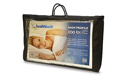Healthbeds Ltd High Profile Cooltex Talalay Latex Pilow, White, Standard