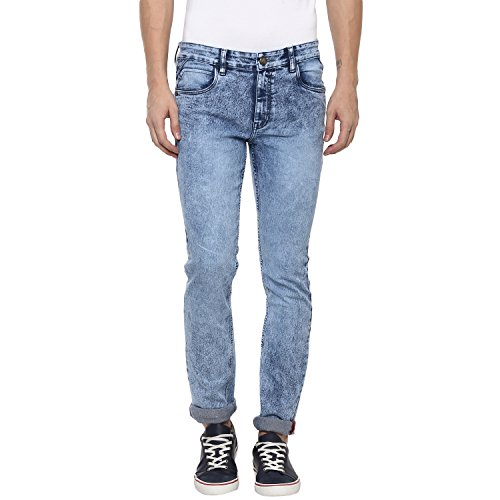 Urbano Fashion Men's Light Blue Slim Fit Stretchable Washed Jeans