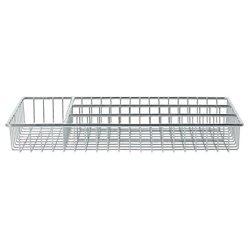 Verdi Stainless Steel Chrome Cutlery Tray - (L: 32cm x W: 18.5cm x H: 4cm)