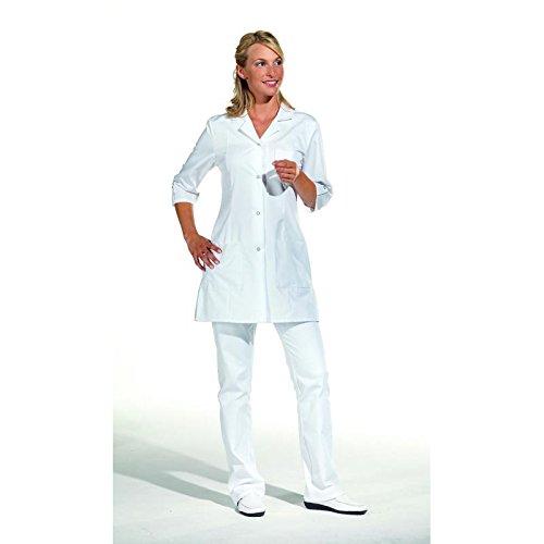 Leiber - Casacca lunga con maniche a 3/4, colore: Bianco