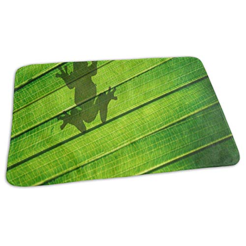 Shadow Frog Green Palm Leaf Baby Diaper Urine Pad Mat Personalized Girls Pee Pads Sheet for Any Places for Home Travel Bed Play Stroller Crib Car ()
