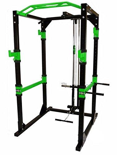 KRAFTZONE® Power Rack / Cage / Hantel Käfig / Kraftstation inkl. Latzug Turm
