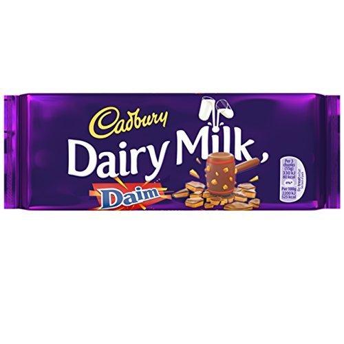 Cadbury Milchprodukte mit Daim 120g (Packung 15)