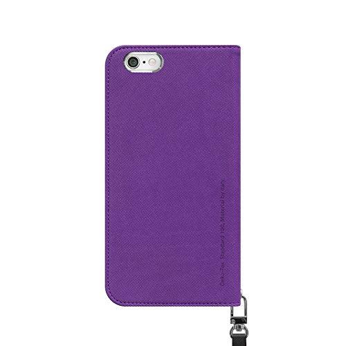 iPhone 6S Plue Fall, araree® [Leinwand Diary] Premium italienischem Leder Wallet Case Flip Cover Mit Kreditkarte ID Halter für Apple (2015) violett