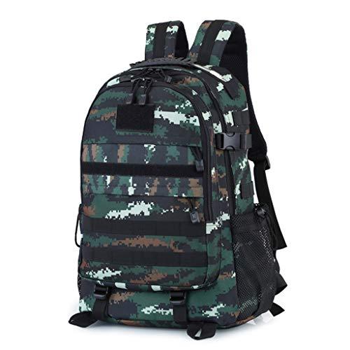 Spezielle Combat Camouflage Rucksack, Outdoor Tactics Große Kapazität Multi Funktion Männer und Frauen gelten Rucksack Mode Lässig Wandern Camping Jagd Training School Student Bag Modetasche JYT