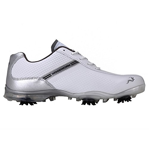 Woodworm TFG Waterproof Golf Shoes White/Silver 8