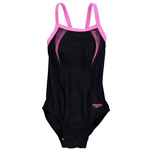 speedo-enfants-thinstrap-junior-filles-maillot-de-bain-bikini-natation-plage-ete-noir-rose-11-12-lg