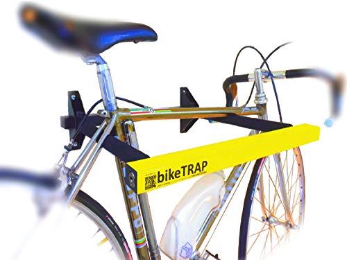 Candado y soporte antirrobo de pared para bicicletas bikeTRAP de alta seguridad....