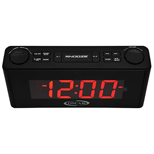 OSCAR OSC-135GDP 2.0 Portable Bluetooth Speaker With Clock, FM, USB Mode, Remote (Black)