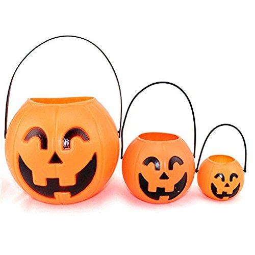 n Kürbis Tasche Tasche Halloween Stützen Korb Vliesstoffe Süßigkeiten Tasche Stereo Kürbis Tasche (Halloween-korb)