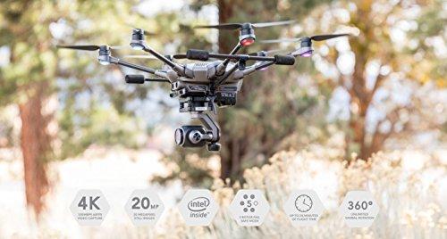 Yuneec Typhoon H Plus Drone con Camera da 1″ per i fotografi et videograf, Grigio - 2