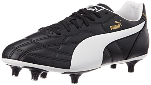 Puma Men's ClassicoSG Black, White and Puma Gold Football Boots - 8 UK