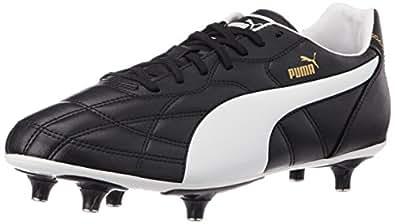 Puma Men's ClassicoSG Black, White and Puma Gold Football Boots - 10UK/India (44.5EU)