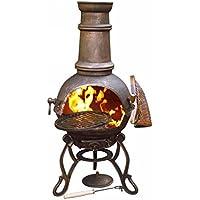 Gardeco Toledo Cast Iron Chimenea, Bronze, cm