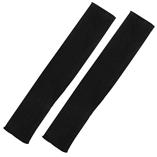 TRIXES Guantes para mujer de manga larga de color negro sin dedos, est