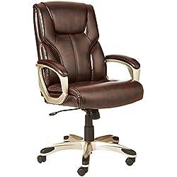 AmazonBasics Full Back Executive Chair (Brown)