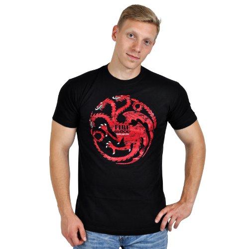 Il Trono di Spade - T-shirt della Casa Targaryen - Fire & Blood - Game of Thrones - M