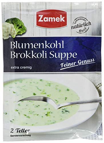 Zamek Blumenkohl Brokkoli Suppe · Cremesuppe mit Blumenkohl und Brokkoli · 2 Teller · ergibt 500 ml, 40er Pack (40 x 41 ml)