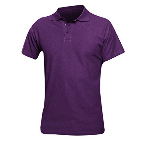 SOLS Herren Spring II Polo-Shirt, Kurzarm Dunkelviolett