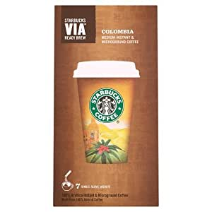 Starbucks VIA Colombian Roast Coffee 7 Sachets (Pack of 12, Total 84 Sachets)